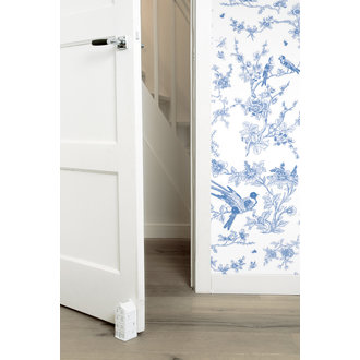 KEK Amsterdam Wallpaper Birds & Blossom,Blue