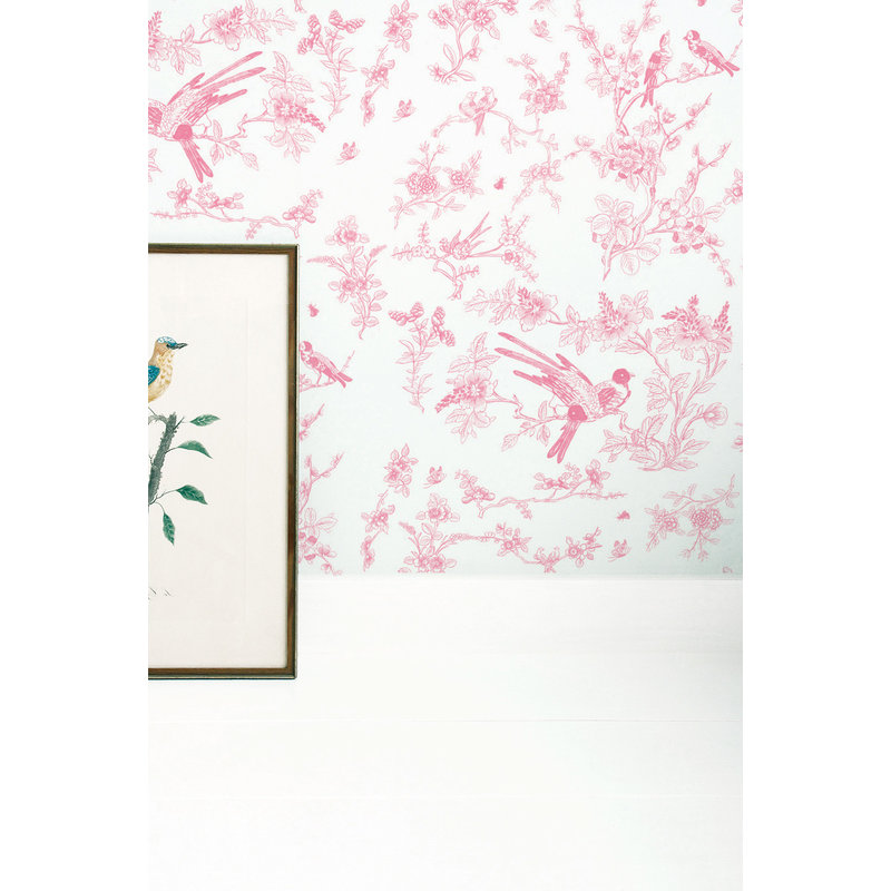 KEK Amsterdam-collectie Wallpaper Birds & Blossom, pink