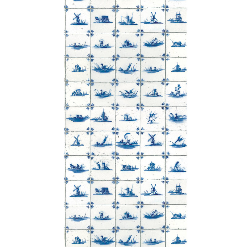 KEK Amsterdam-collectie Wallpaper Royal Blue Tiles