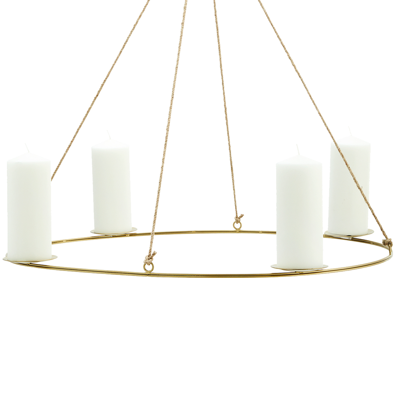Madam Stoltz-collectie Oval hanging candle holder