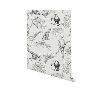 Creative Lab Amsterdam Tropical Tucan cream Wallpaper on roll