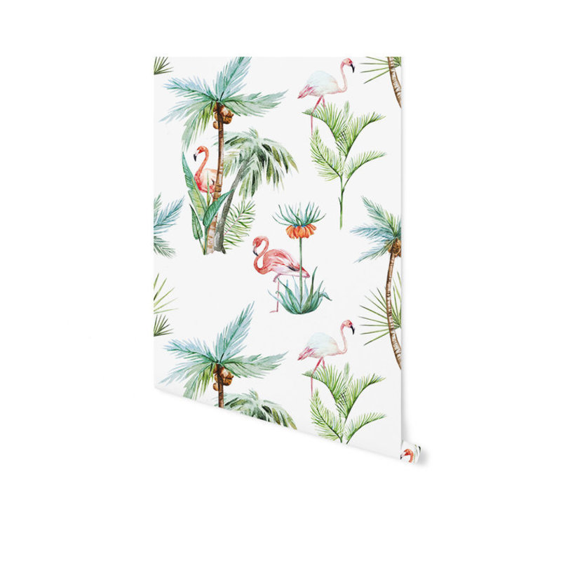 Creative Lab Amsterdam-collectie Flamingo Palm behang op rol