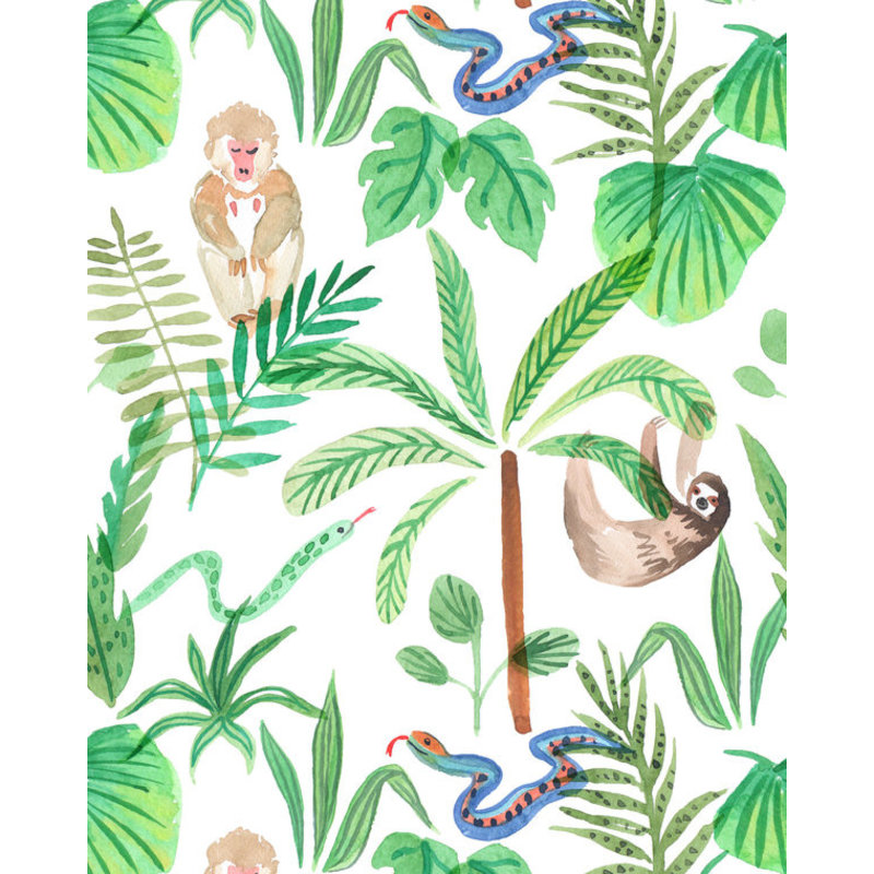 Creative Lab Amsterdam-collectie Jungle Monkey behang op rol