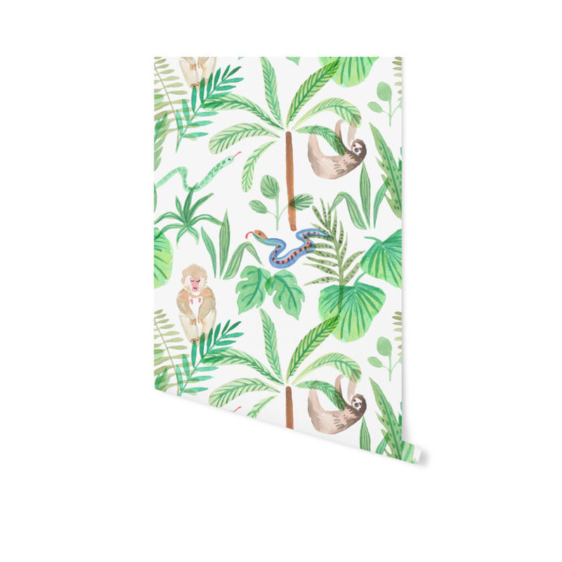 Creative Lab Amsterdam-collectie Jungle Monkey Wallpaper on roll