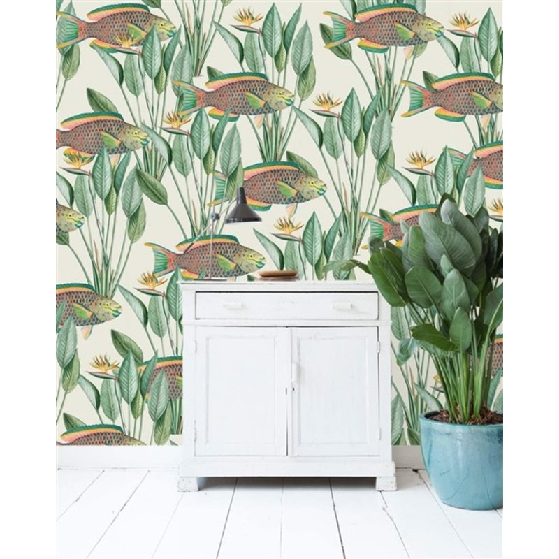 Creative Lab Amsterdam-collectie Parrot Fish Wallpaper Mural