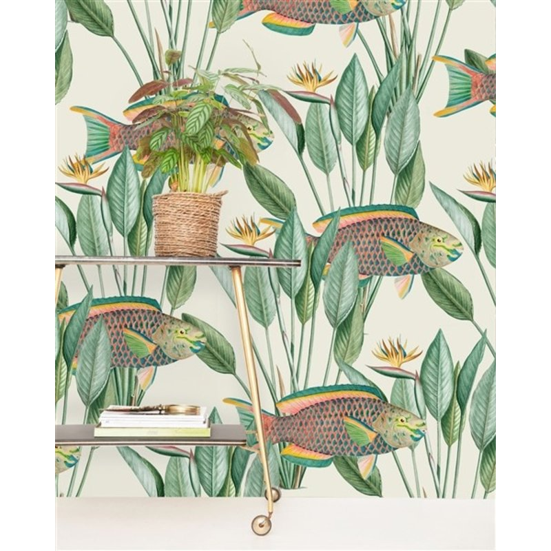 Creative Lab Amsterdam-collectie Parrot Fish behang Mural