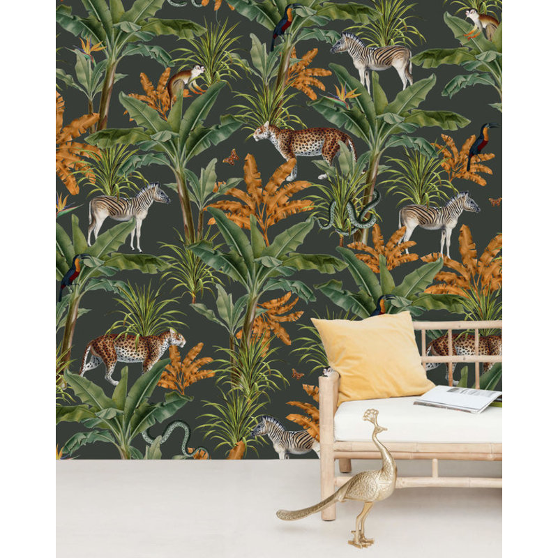 Creative Lab Amsterdam-collectie Mighty Jungle behang Mural