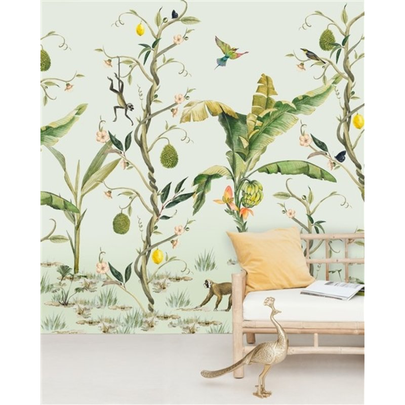 Creative Lab Amsterdam-collectie Monkey Jungle Wallpaper Mural
