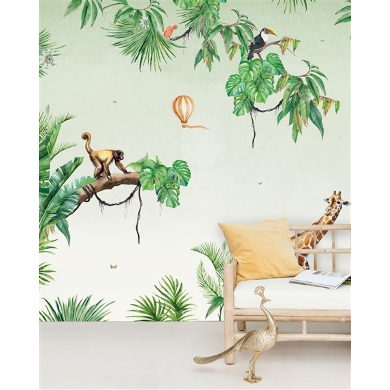 Creative Lab Amsterdam-collectie Monkey Jungle behang Mural