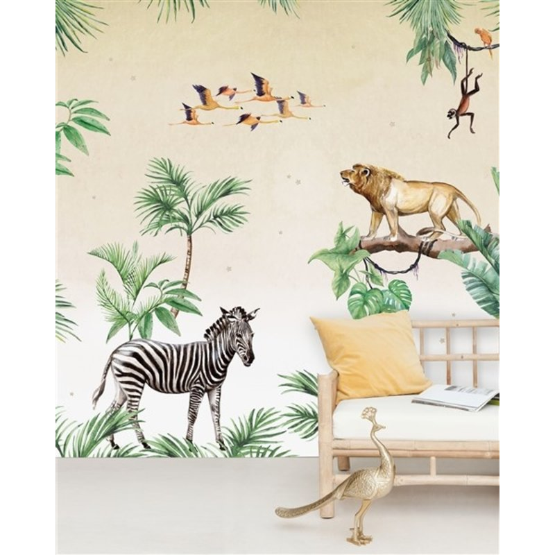 Creative Lab Amsterdam-collectie King of the Jungle Wallpaper Mural