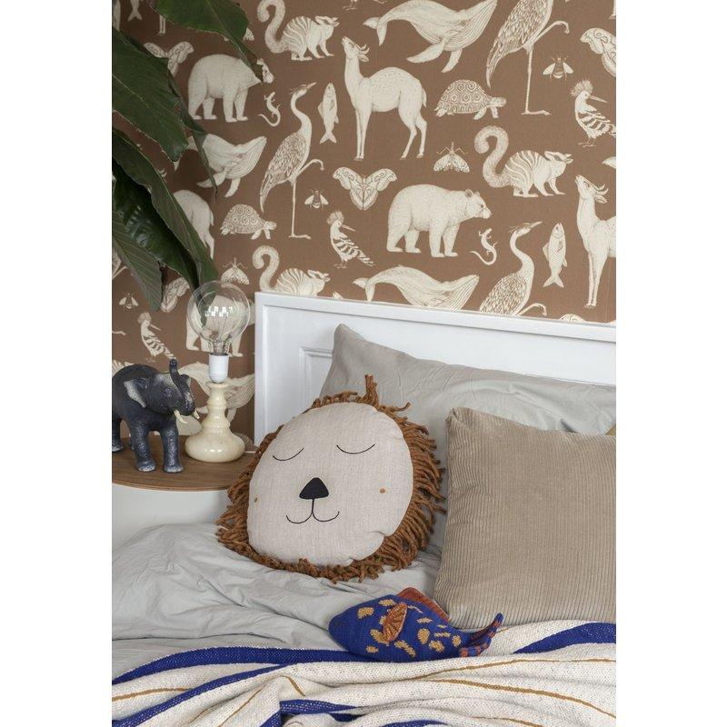 ferm LIVING-collectie Katie Scott behang  Animal Toffee
