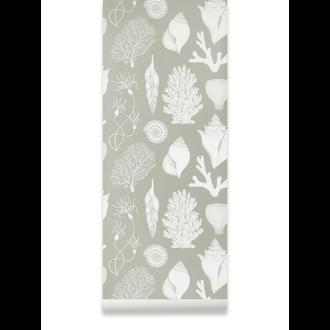 ferm LIVING Katie Scott Wallpaper - Shells - aqua