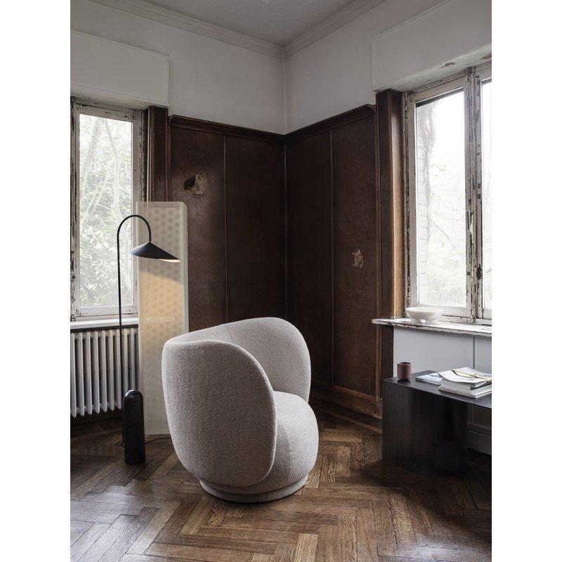 ferm LIVING-collectie Rico Lounge Chair - Bouclé sand