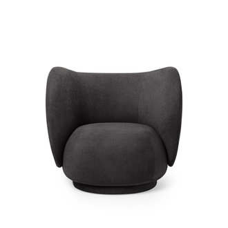 ferm LIVING Rico Lounge Chair donkergrijs