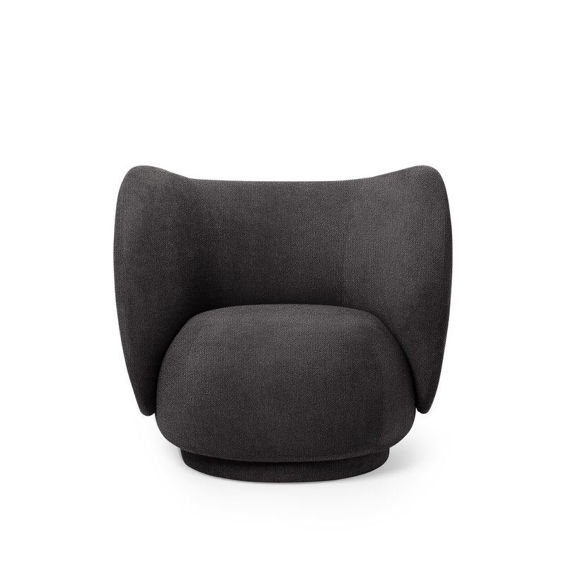 ferm LIVING-collectie Rico Lounge Chair donkergrijs