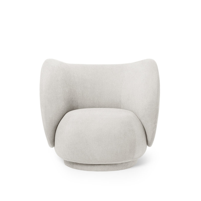 ferm LIVING-collectie Rico Lounge Chair Off-White