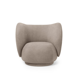 ferm LIVING Rico Lounge Chair - Bouclé  sand
