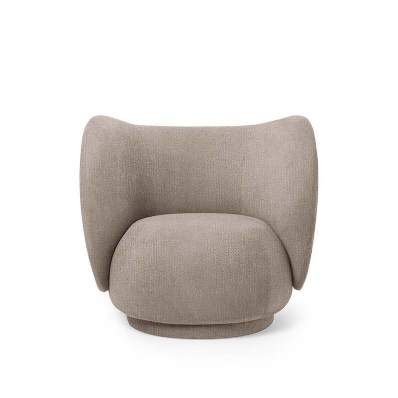 ferm LIVING-collectie Rico Lounge Chair - Bouclé zand