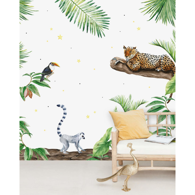 Creative Lab Amsterdam-collectie Jungle Tiger behang Mural