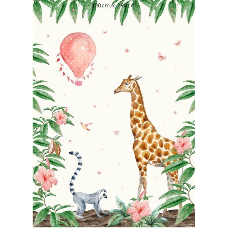 Creative Lab Amsterdam-collectie Giraffe behang Mural