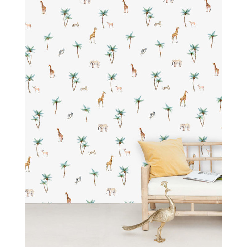 Creative Lab Amsterdam-collectie Savannah Palm Tree behang Mural