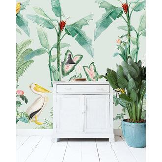 Creative Lab Amsterdam Pelican behang Mural