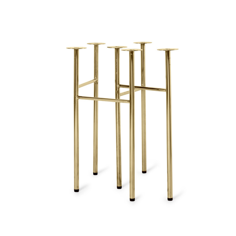 ferm LIVING-collectie Tafelpoot set Mingle Brass (set v. 2) W58