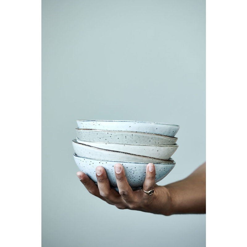 House Doctor-collectie Stoneware bowl LAKE grey