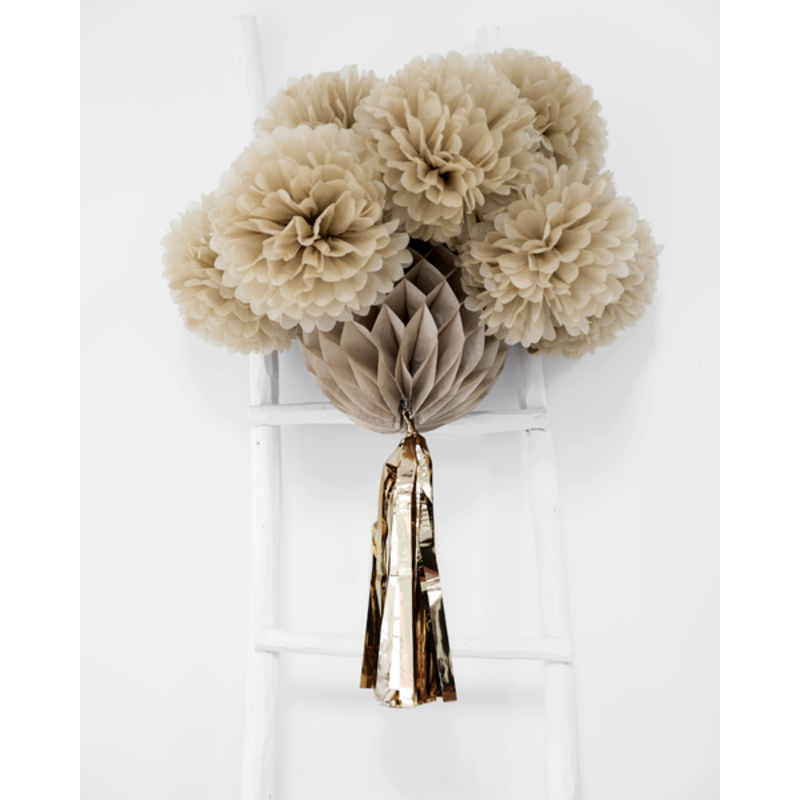 Delight Department-collection Tassel honey comb sand with golden tassel