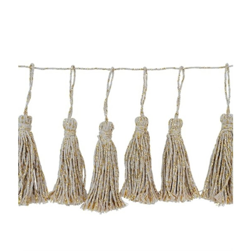Delight Department-collection 14 COTTON TASSELS GARLAND IN COTTON BAG