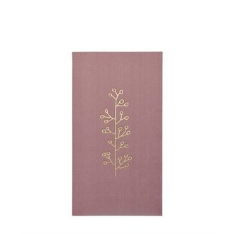 Delight Department-collection Servetten Dusty pink met gouden print