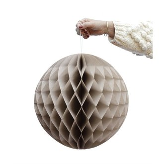 Delight Department-collection Beige honeycomb ball - set of 2