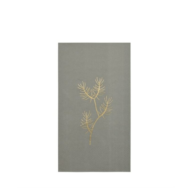 Delight Department-collection Napkins olive with golden print