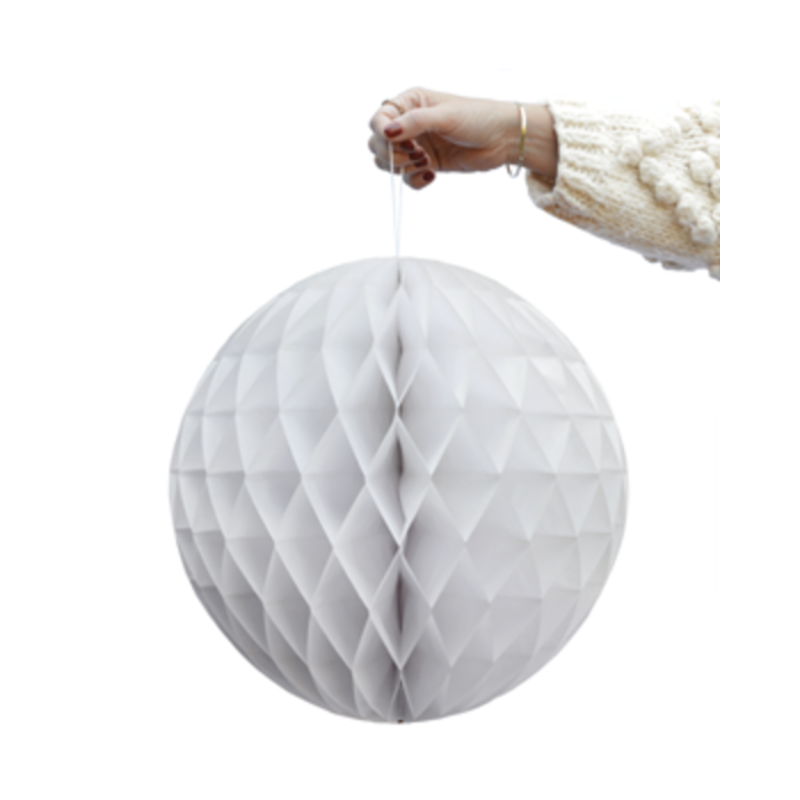 Delight Department-collection White honeycomb ball - set of 2