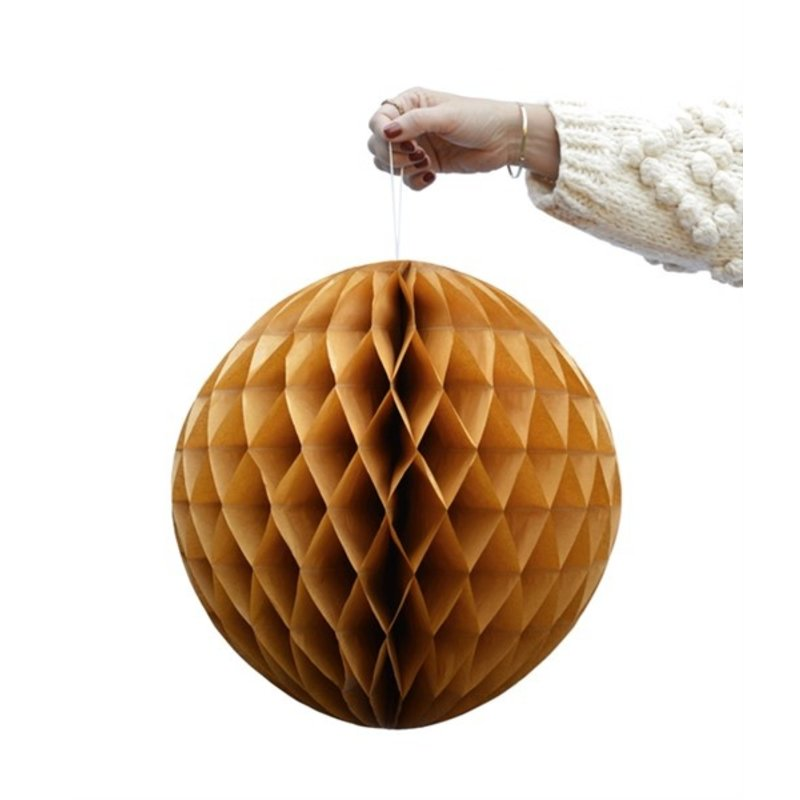 Delight Department-collection Ochre honeycomb ball - set of 2