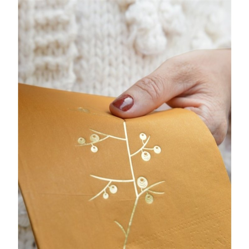 Delight Department-collection Napkins ochre with golden print