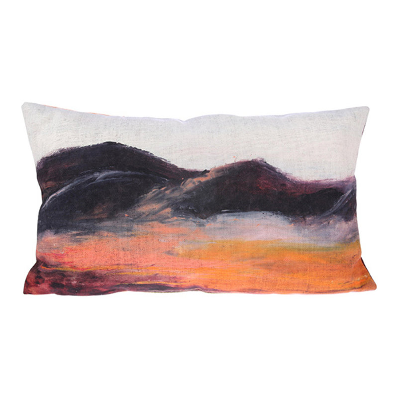 HKliving-collectie  Printed cushion painted mountain (35x60)