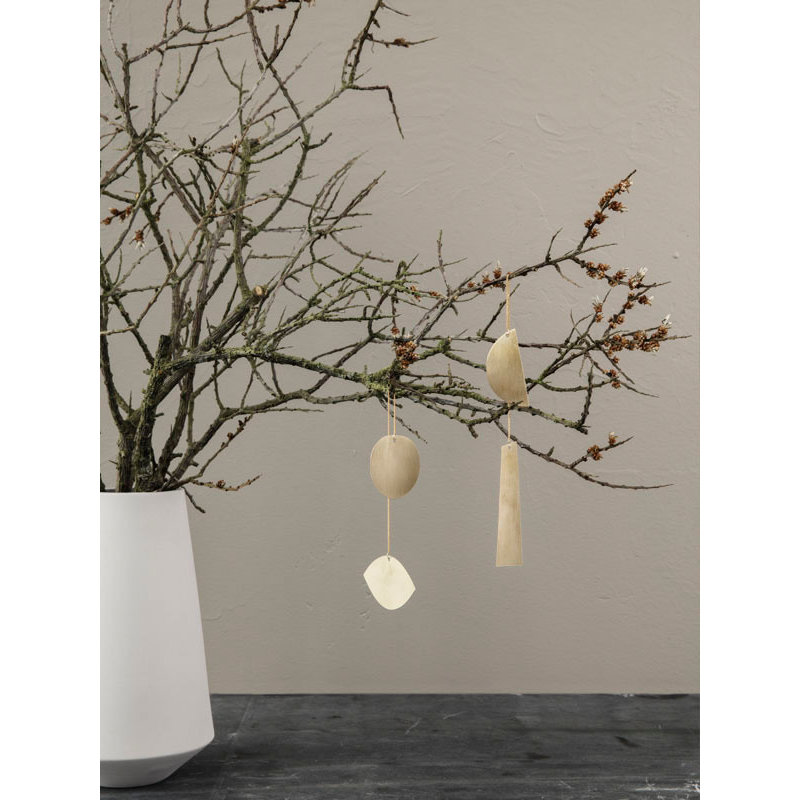 ferm LIVING-collectie Twin half circle Ornament brass
