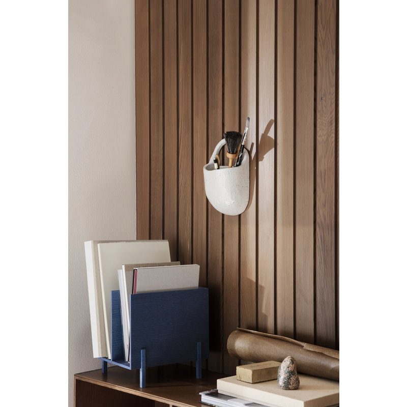 ferm LIVING-collectie Speckle Wall Pocket Off-White