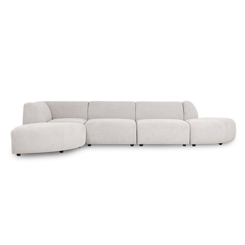 HKliving-collectie jax couch: element angle, sneak, light grey