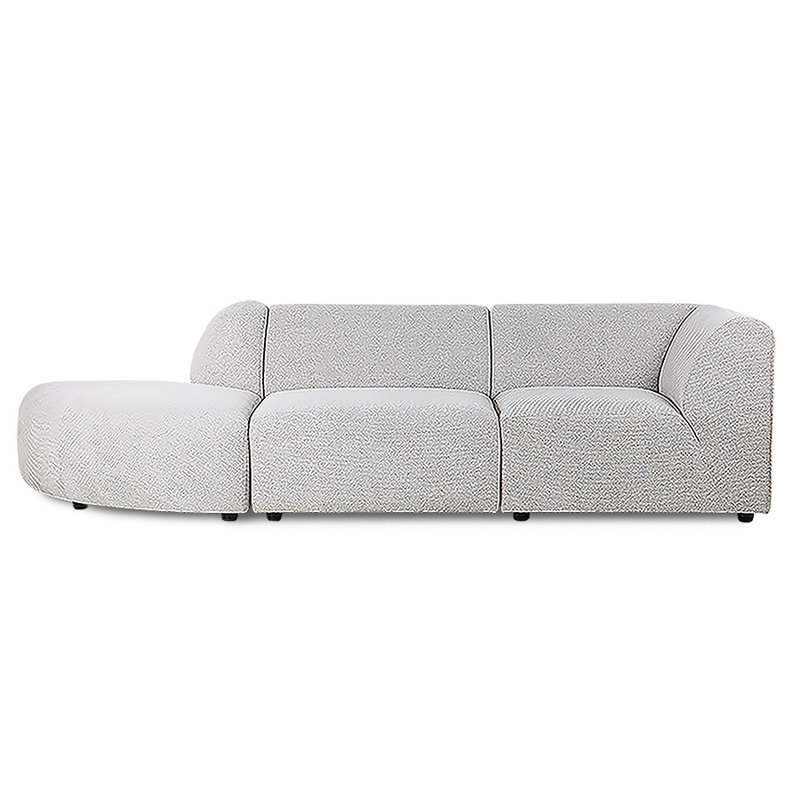 HK living-collectie jax couch: element angle, sneak, light grey