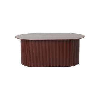 ferm LIVING Podia Table - Red Brown