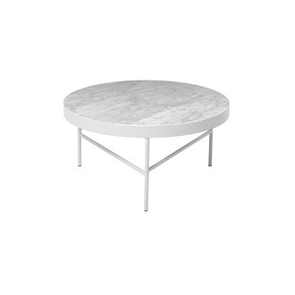 ferm LIVING Marmeren salontafel wit 70,5 cm