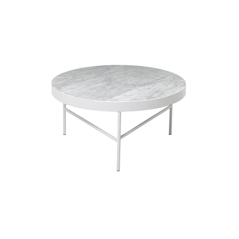 ferm LIVING-collectie Marmeren salontafel wit 70,5 cm