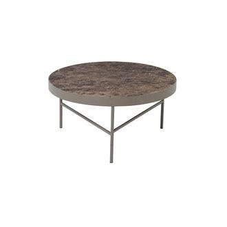 ferm LIVING Marmeren salontafel bruin 70,5 cm