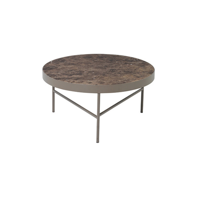 ferm LIVING-collectie Marble Table - Brown - Large