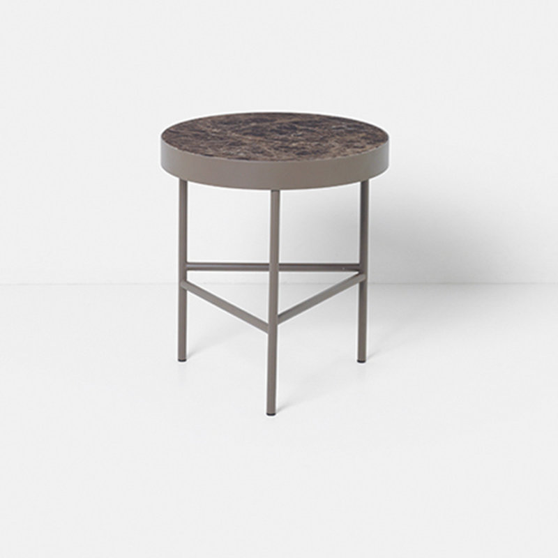 ferm LIVING-collectie Marble Table - Brown - Medium