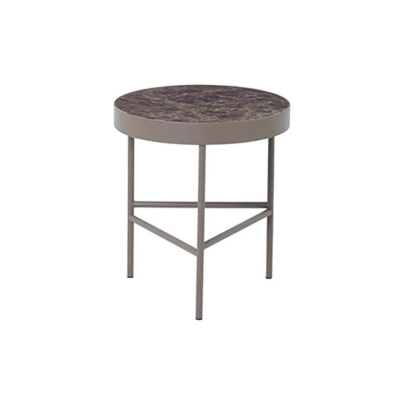 ferm LIVING-collectie Marmeren salontafel bruin 40cm