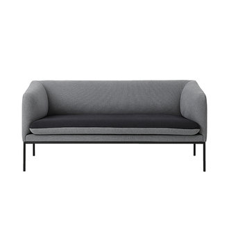 ferm LIVING Turn sofa 2 zits katoen - lichtgrijs- donkergrijs