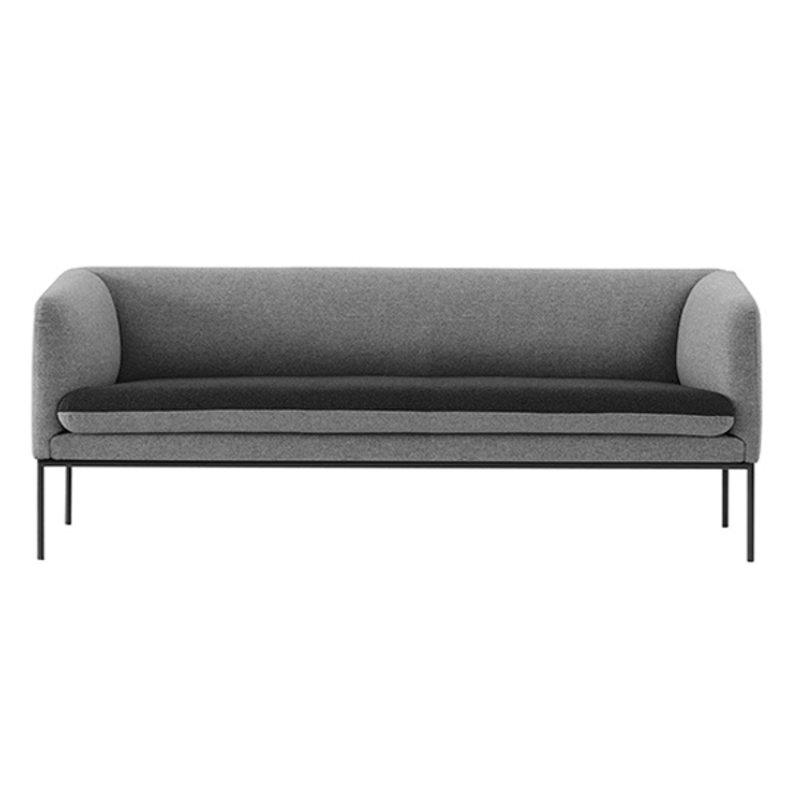 ferm LIVING-collectie Turn Sofa 3 - Wool - Light Grey/Dk Grey